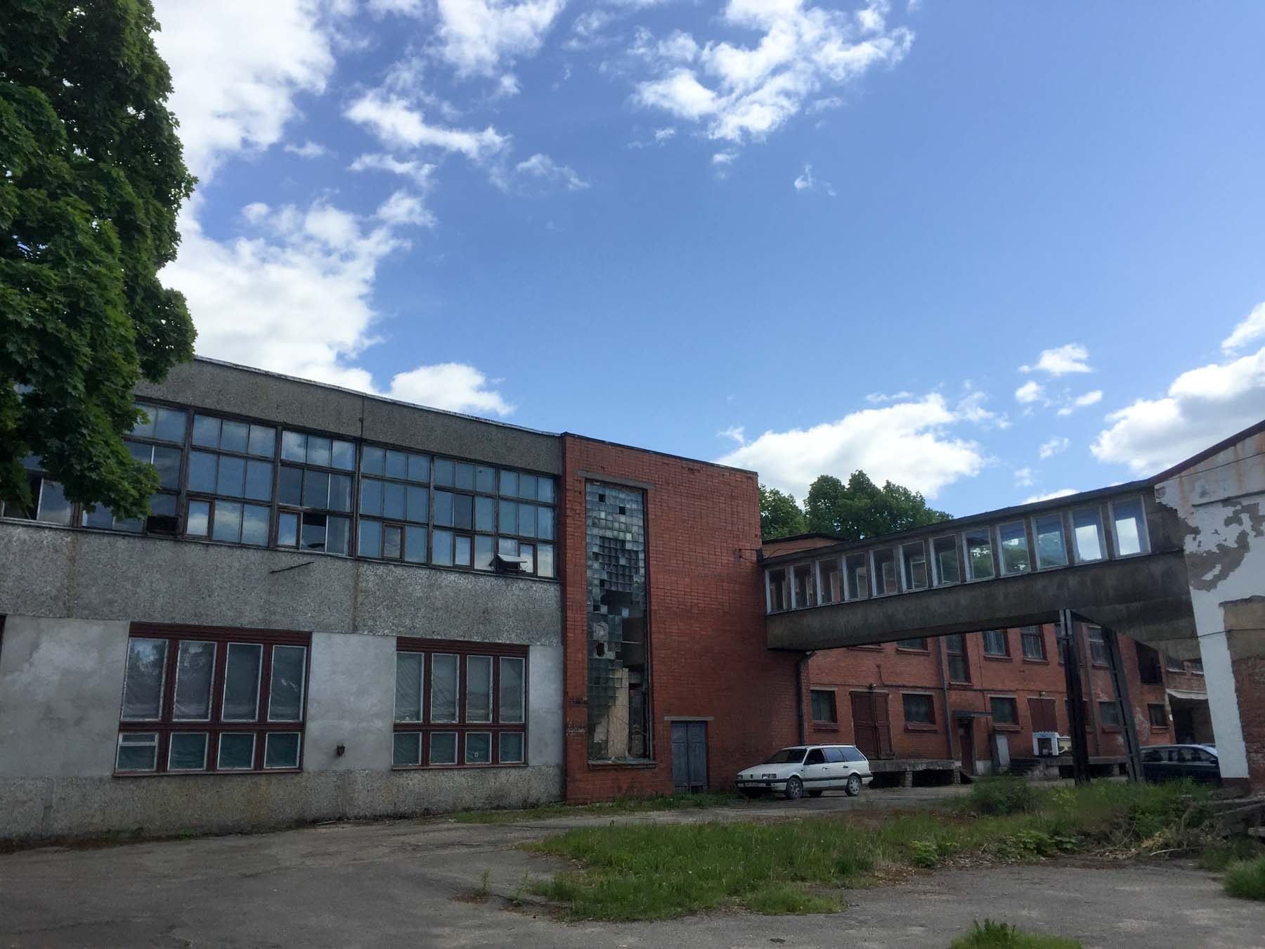 empty buildings in Cesis, Latvia